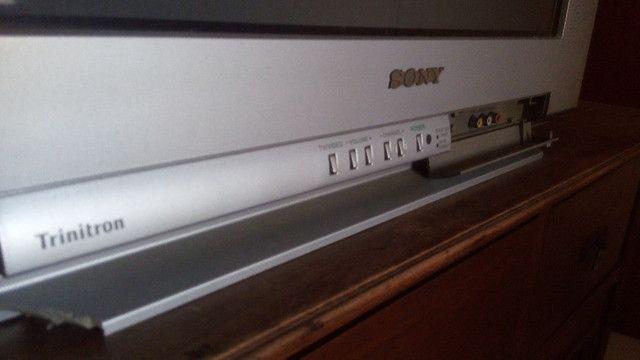 Tv Sony 21 Pol Tela Plana 110v Para Retirada De Peças