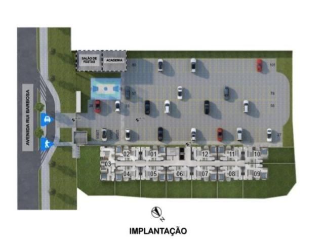 SJ PINHAIS, CENTRO, 2 QUARTOS, SACADA C/ CHURRASQUEIRA, ENTRADA PARC. - Foto 6