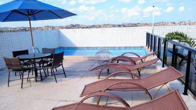 Flat com 1 dormitório para alugar, 38 m² - Poço - Recife/PE - Foto 12