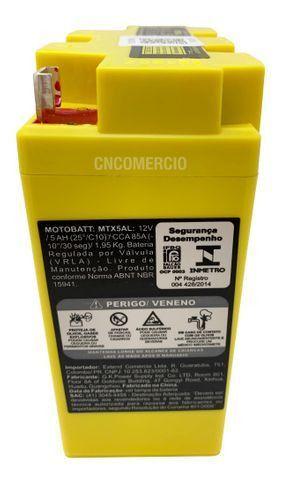 Bateria Gel Motobatt Mtx5al Yb5l-b Yamaha XTZ 125 YBR 125 RD 125 RDZ 135 Crypton T115 - Foto 3