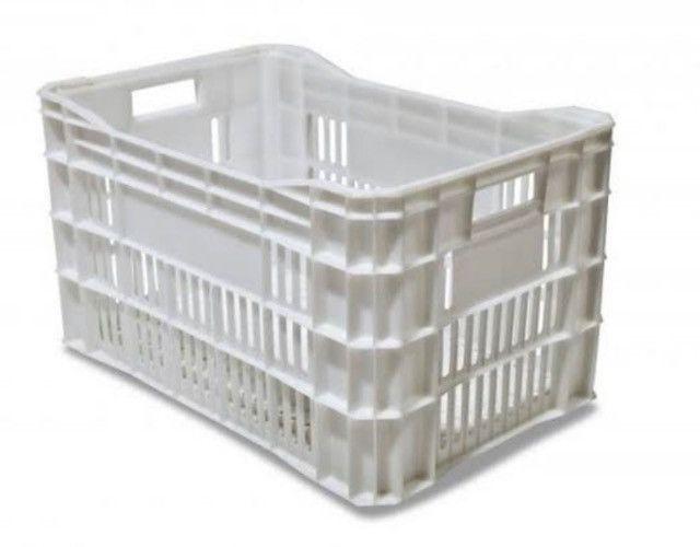 Kit com 10 caixas plásticas branca natural para câmara fria 60l - Foto 3