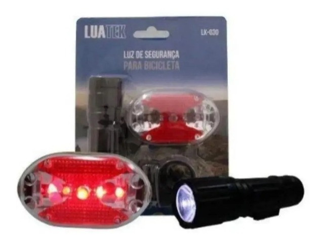 Lanterna Bike Kit Pilha (frente e traseira)