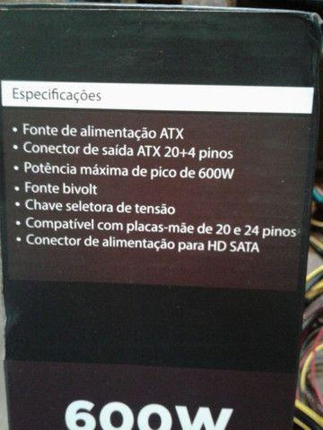 Fonte Atx 600w para computador - Foto 3