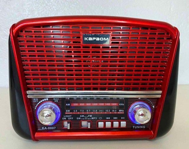 Rádio Retrô Portátil Ferrari Vintage C/ AM e <br>Fm - Foto 4