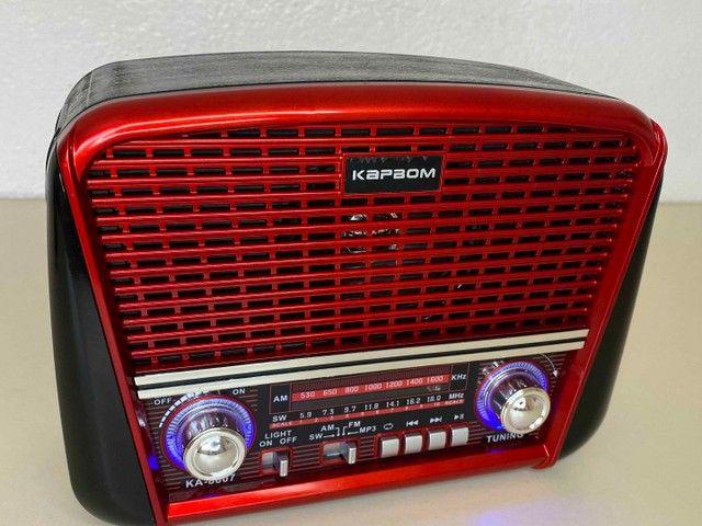 Rádio Retrô Portátil Ferrari Vintage C/ AM e <br>Fm