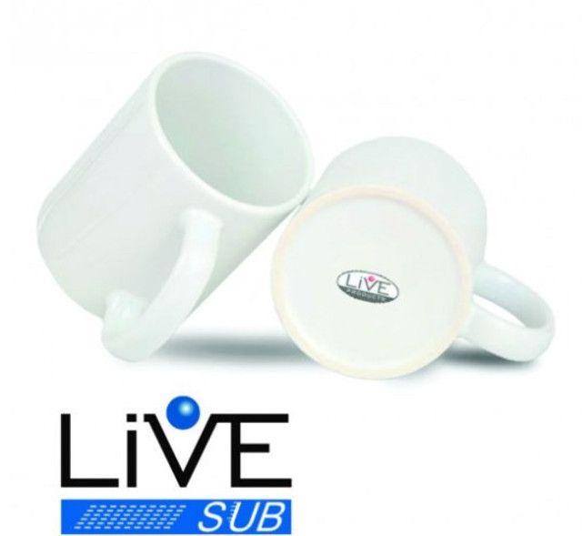 Caneca Branca para Sublimação 325ml - Importada Live AAA
