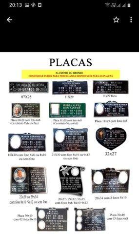 Porcelanas e placas pra túmulo  - Foto 2