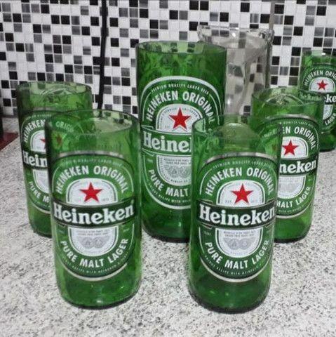 Copos de cerveja artesanal  e paliteiro - corona, beats e heineken - Foto 3