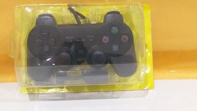 Controle Joystick Manete Playstation PS2 Com Fio