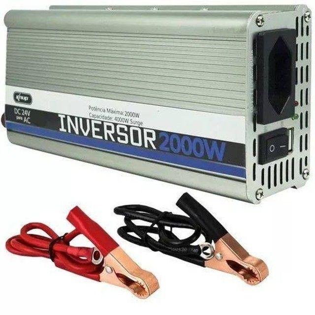 Inversor Potência 2000w 24v Conversor Transformador Tensão KP-551 - Foto 2