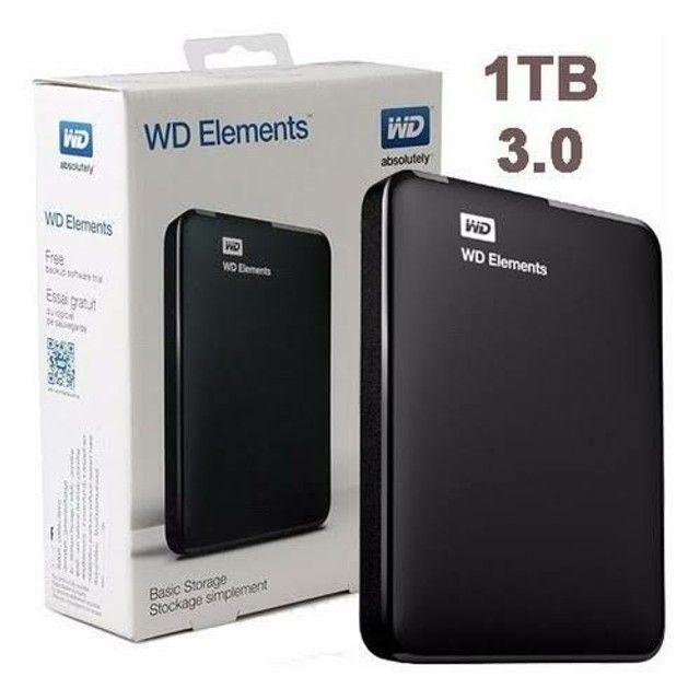 HD EXTERNO 1TB WD ELEMENTS Western Digital , USB 3.0, Novo, lacrado de Fábrica