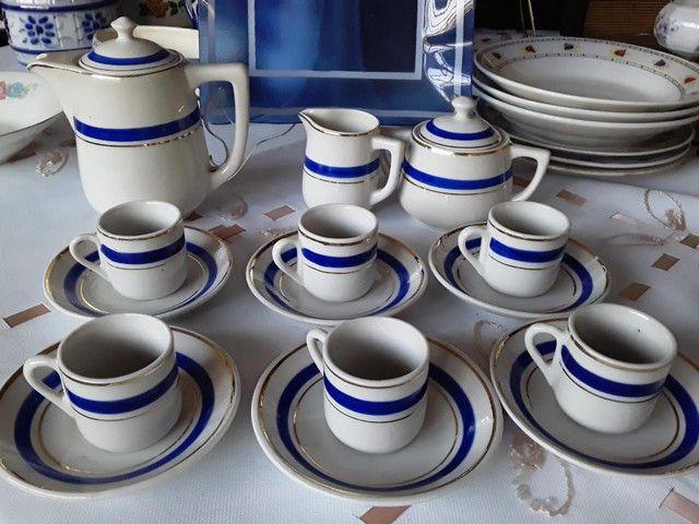 Jogo porcelana cafezinho 15 peças