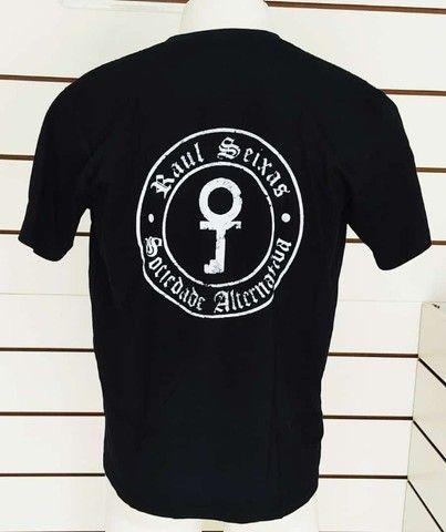 Camisa Raul seixas Rauzito Rock Preta Sociedade alternativa GG - Foto 2