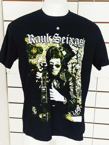 Camisa Raul seixas Rauzito Rock Preta Sociedade alternativa GG