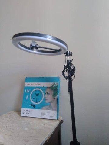 Iluminador Led Ring Light 12 Polegada Tripé 2mt Profissional - Foto 2