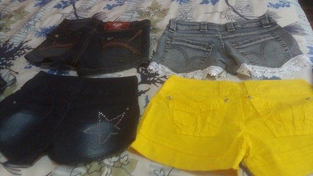 Lotinho de shorts jeans femenino - Foto 2