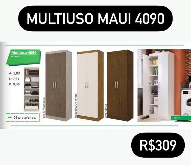 Armário 05 prateleiras Mauí Armário 05 prateleiras