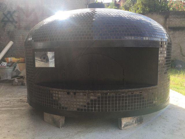 Forno a lenha e gás para pizza napolitana  - Foto 2