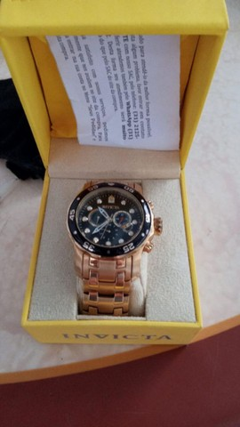Relógio Invicta Dourado Novíssimo