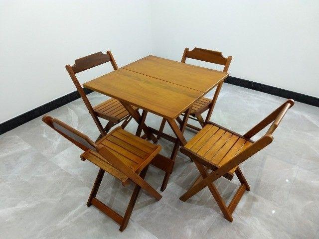 Jogo de Mesa 70x70 com 4 cadeira - Foto 3