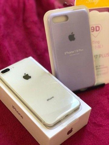 Iphone 8 plus Desbloqueado 64gb Silver - Troco em Iphones superiores