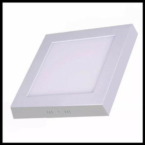 Plafon Luminária Led Quadrado Sobrepor 17x17 12w -Promoção!! Mega Infotech Distribuidora - Foto 3