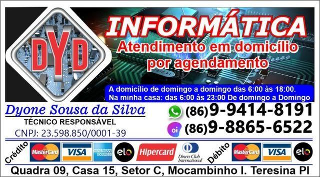 Serviços de Informática a Domicílio. E Impressoras, conserto, recarga, limpeza e venda - Foto 2
