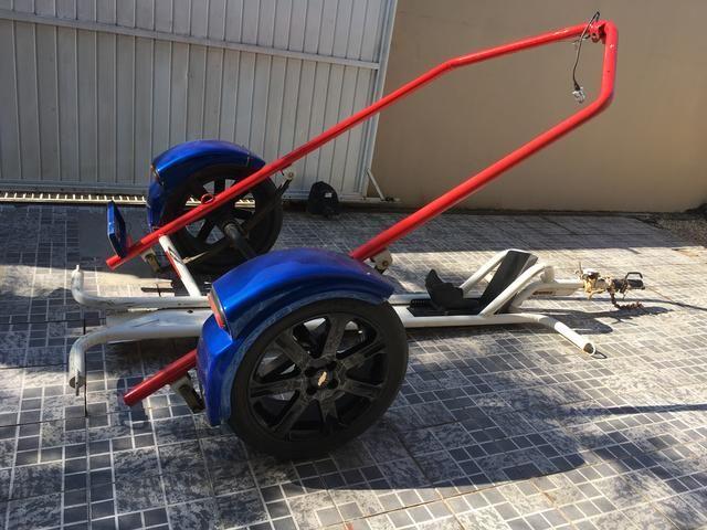 Carretinha box car, personalizada, para moto