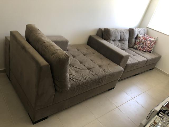 Sofá 3 lugares com chaise - Decore - Foto 6