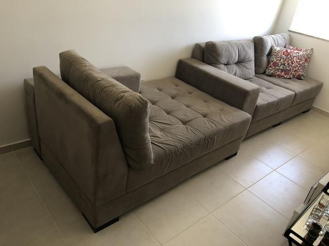 Sofá 3 lugares com chaise - Decore - Foto 2