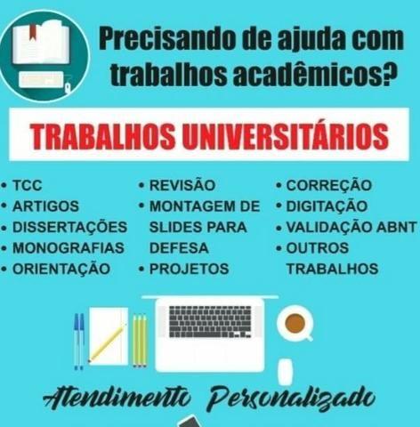 Ajudo e oriento confecção de trabalho acadêmico - Foto 2
