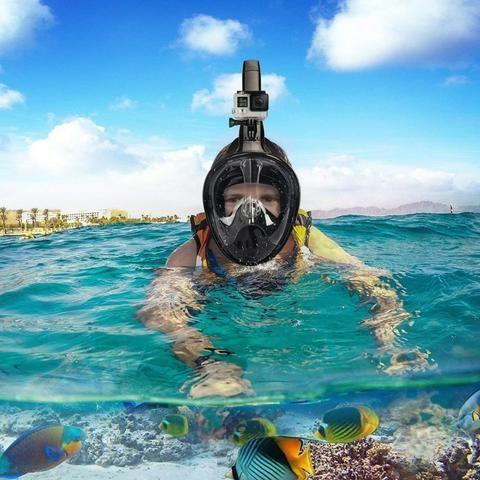 Resultado de imagem para mascara snorkeling go pro