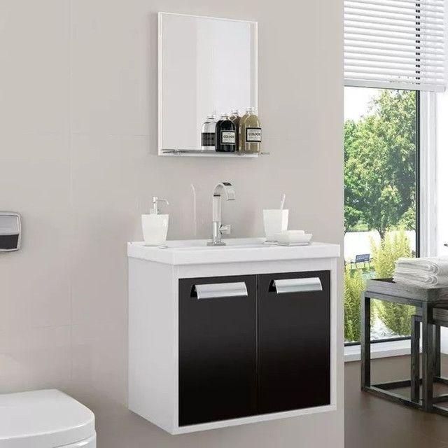 Conjunto armário para banheiro rigel com pia XVV627