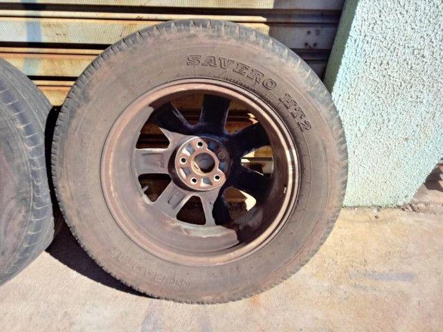 Jogo Roda Pneu Aro 17 Honda Crv 2011 - Foto 16
