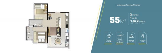 Apartamento no Jardim Vila Galvão, com 2 quartos, sendo 1 suíte e área útil de 55 m² - Foto 4