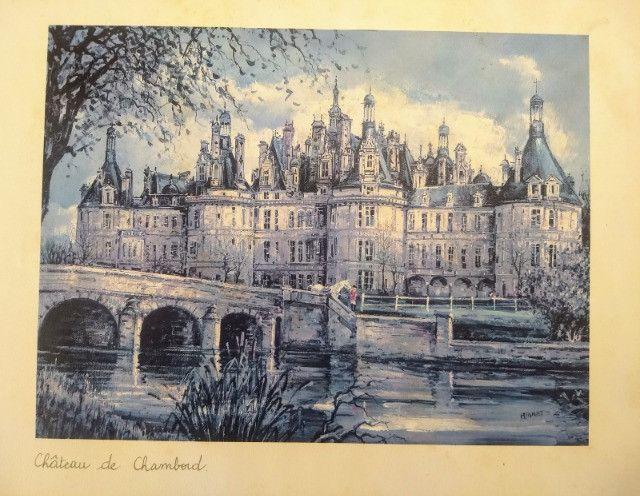 Três litografias de Castelos Franceses - Foto 3