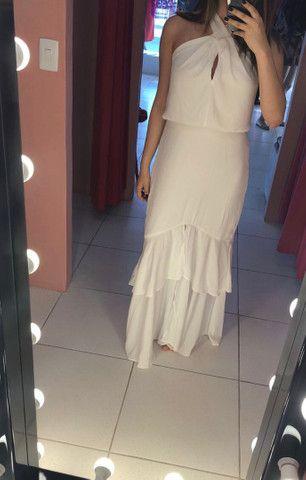Vestido longo branco Anchor - Foto 2