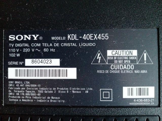 TV Sony LED, KDL-40EX455, tela danificada - Foto 3