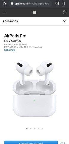 Fone Apple AirPods Pro Wireless ORIGINAL Lacrado NOVO - Foto 5