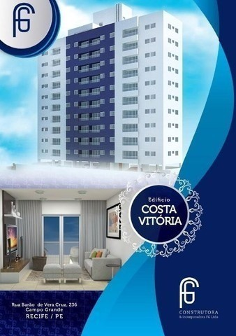 (L)Excelente apartamento 3 quartos, 65m² em Campo Grande - Edf. Costa Vitória - Foto 3