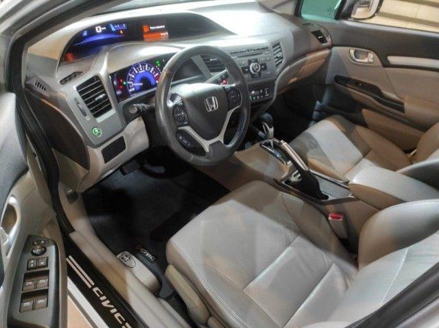 Civic Lxr 2.0 Flexone 2014 Automático , bancos em couro , completo  - Foto 6