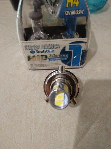 Lâmpadas H4 de LED e HID super Branca  - Foto 4