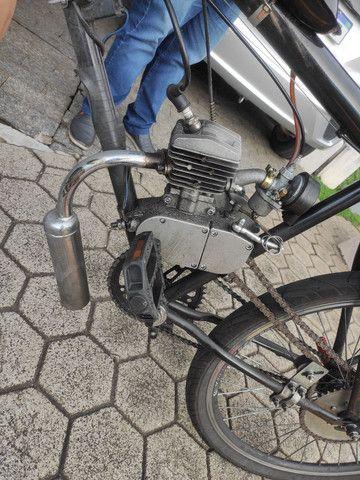 Bike motorizada (semi nova) - Foto 6