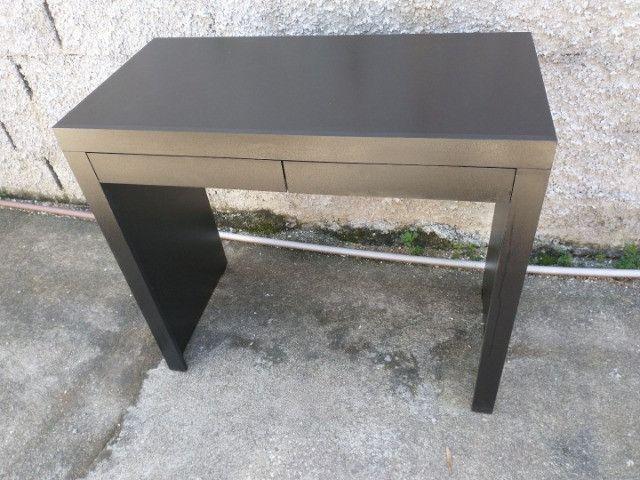 Mesa/escrivaninha / escritório/ com gavetas preta / novo MDF