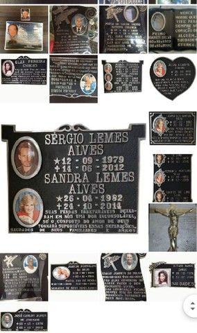 Porcelanas e placas pra túmulo  - Foto 5