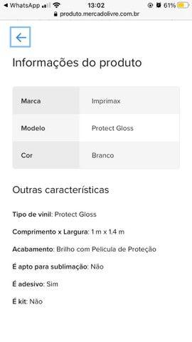 Adesivo vinílico Branco 2 METROS TUBO FECHADO NOVO COMPREI e não USEI  - Foto 3