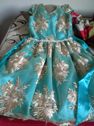 Vestido infantil veste 8 a 10 anos - Foto 3