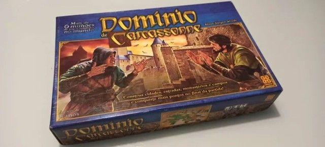 Jogo Domínio Carcassonne - completo - raro