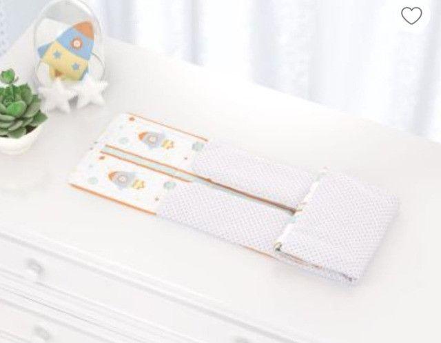 Kit Quarto de bebê (Trocadores ,Abajur, potes e bandejas, 2 porta fraldas - Foto 2