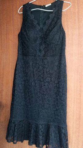 Vestido de festa curto, usado duas vezes.